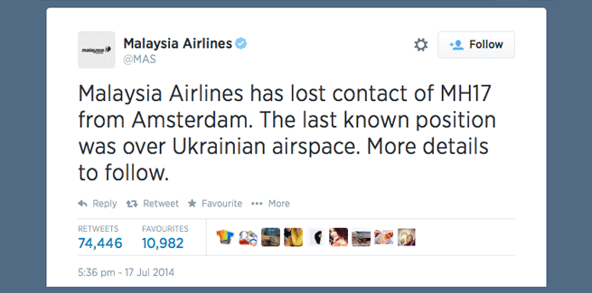 The Facts of Flight MH17 – dealing with UGC in news