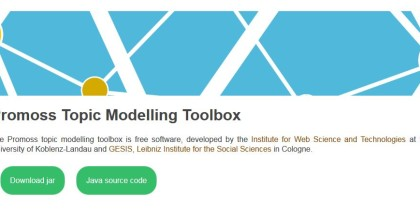 Topic Modelling Toolbox - Uni Koblenz