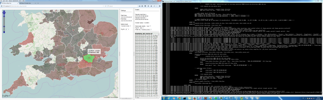 Geoparsing in action: screenshot from the live REVEAL ICT Lisbon 2015 demonstrator