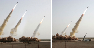 Faked Iranian missile test
