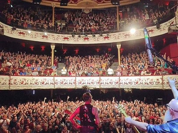 Figure 1. EaglesOfDeathMetal concert image in Dublin which was widely misrepresented as the Bataclan theatre in Paris. Source @EODMofficial